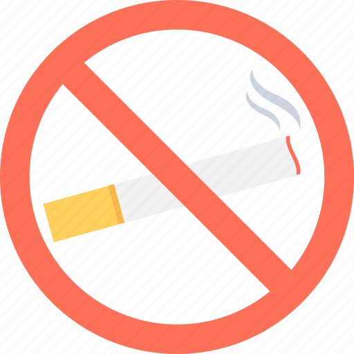 cigarette, forbidden, no smoking, quit smoking, restricted icon