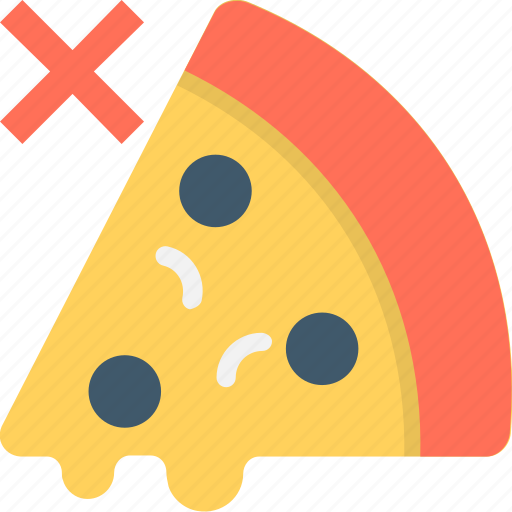 food, pizza, prohibition, unhealthy food, weight loss icon