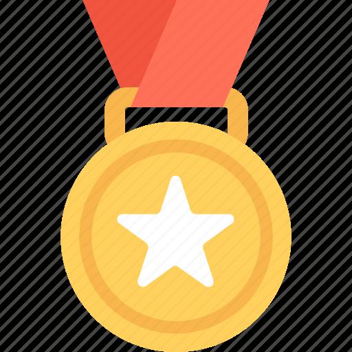 Winner, medal, prize, award, reward icon