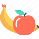 apple, banana, diet, food, fruits icon
