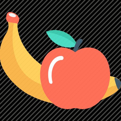 apple, banana, diet, food, fruits icon