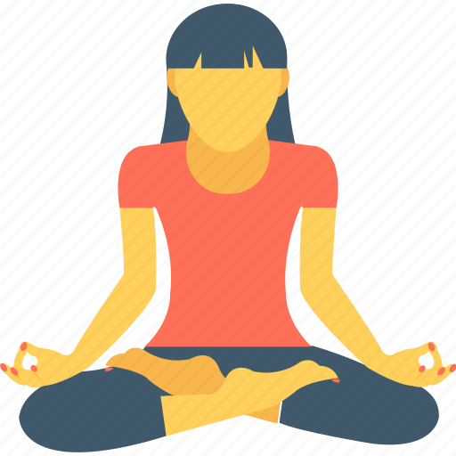 exercising, fitness, workout, yoga, yoga posture icon