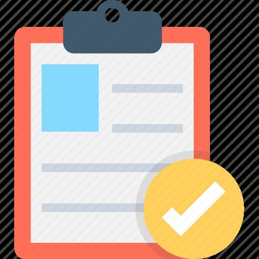 checklist, clipboard, diet plan, task, tick icon