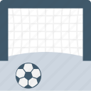 football net, goal, goal post, soccer goal, sports icon