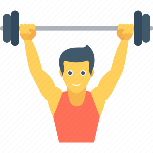 bodybuilder, exercise, fitness, gym, weightlifting icon