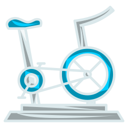 cycling, exercise, fitness, gym icon