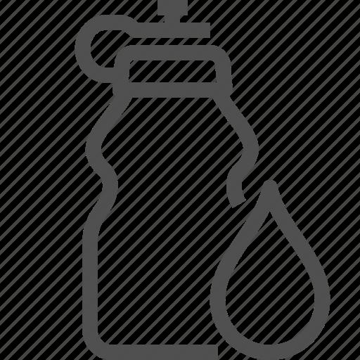 aqua, bottle, drink, drop, liquid, sport, water icon
