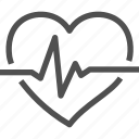 beating, cardiogram, heart, heartquake, palpitation, pulse, rhythm icon