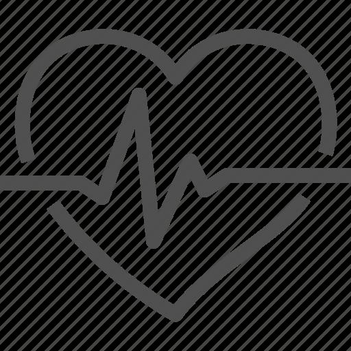 beating, cardiogram, heart, heartquake, palpitation, pulse, rhythm icon