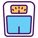 body, fitness, measure, scale, weight icon