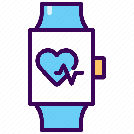 beat, fitness, heart rate, monitor, pulse, smartwatch, tracker icon