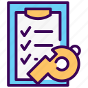 clipboard, coach, fitness, plan, progress, schedule, training icon