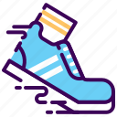 cardio, fast, fitness, run, shoes, warm up icon