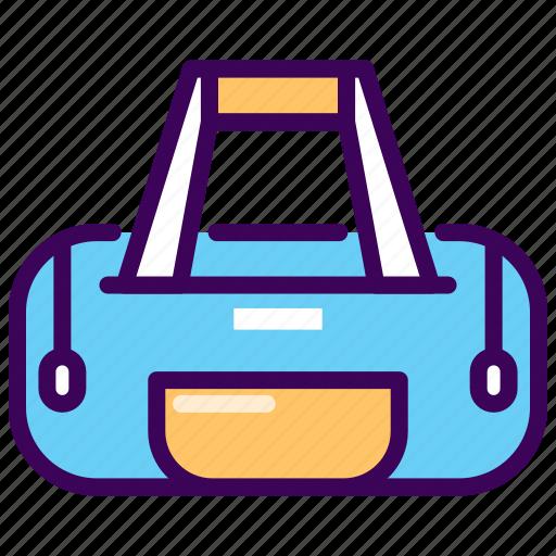 bag, duffle, equipment, fitness, gym, pocket icon