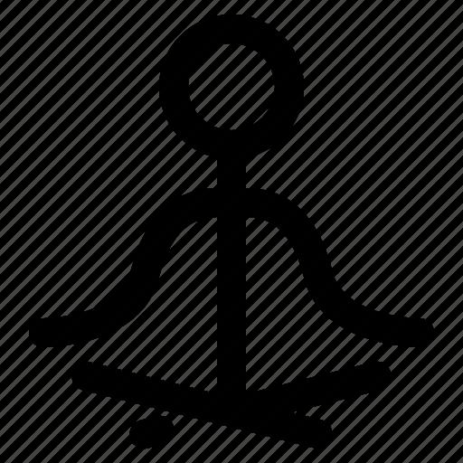 balance, fitness, health, nature, peace, pray, yoga icon
