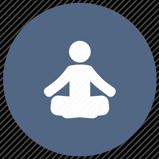 Exercise Fitness Gymnastics Health Meditation Training Yoga Icon