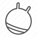ball, equipment, exercise, fit, fitness, gym, rubber icon