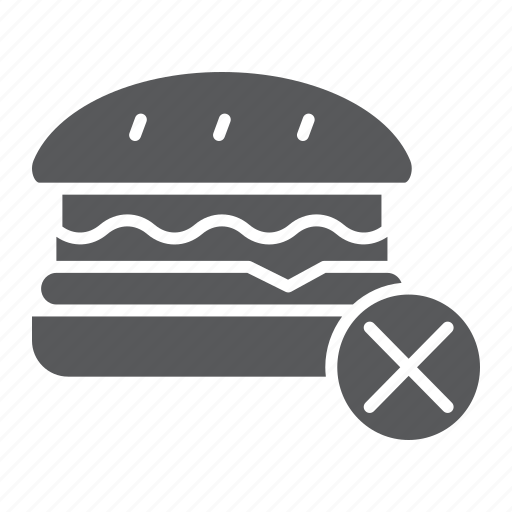 burger, diet, fast, food, forbidden, no, stop icon