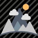 mountains, mountain, environment, ecology, scenery, landscape, nature icon
