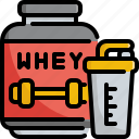 drinks, fitness, gym, protein, proteins, whey icon