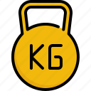 exercise, fitness, gym, kilogram, training, weight, workouts icon