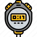 clock, exercise, fitness, gym, stopwatch, watch, workouts icon