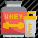 energy, exercise, fitness, gym, protein, proteins, whey icon