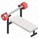 gym equipment, muscle building, smith machine, weight machine, workout icon