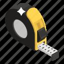 centimeter, inches tape, length measure, measurement, tape measure icon