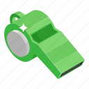 whistle, coach whistle, shrill sound, blowing whistle, sports equipment icon