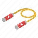 fitness rope, jump rope, jumping string, skipping, skipping rope icon