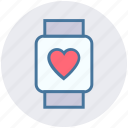 fitness, gym, health, heart, smart, technology, watch icon