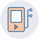 digital, earphone, fitness, headphone, music, music player, songs icon