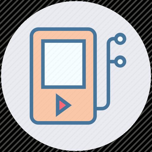 digital, earphone, fitness, headphone, music, music player, songs icon