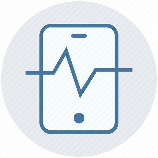 cell, fitness, health, medical, monitor, phone, smartphone icon