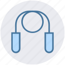 equipment, fitness, gym, healthy, jumping, rope, skipping icon