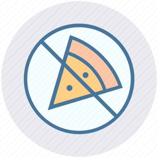ban, ban fast food, forbidden pizza, no junk food, no pizza, prohibited pizza, unhealthy food icon