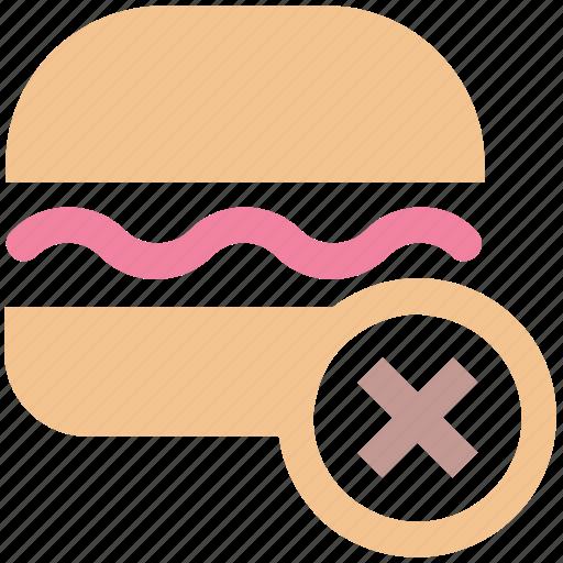 eat, fast, food, forbidden, hamburger, health, unhealthy icon