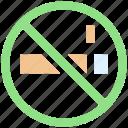 ban, cigarette, forbidden, no, no smoking, smoking, tobacco, warning icon