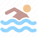 exercise, fitness, health, pool, sport, sports, summer, swim, swimmer, swimming icon