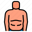 body, fat, fitness, health icon