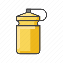 bottle, drink, fitness, fluid, liquid, water icon