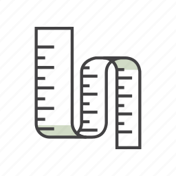 body, diet, fitness, health, ruler, slim, stomach icon