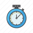 exercise, fitness, health, stopwatch, time, timer icon
