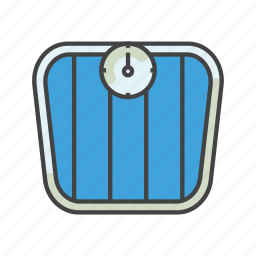 fitness, health, healthcare, scales, sport, weight icon