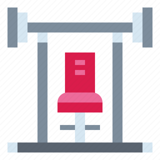 bench, exercise, fitness, gym icon