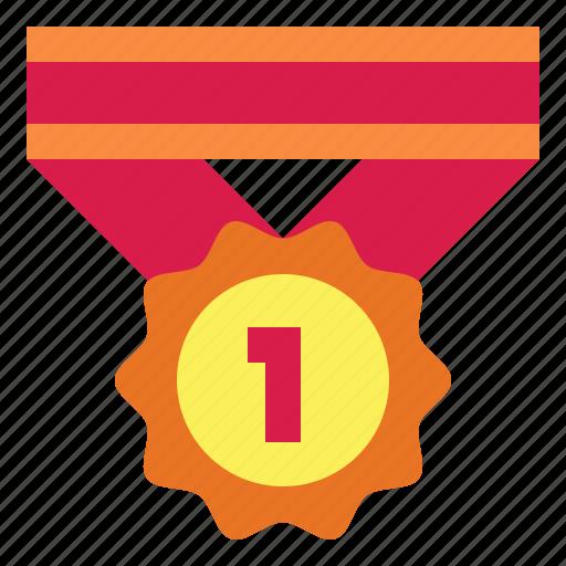 award, badge, emblem, medal icon