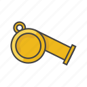 fitness, gym, referee, sports, sports alarm, tool, whistle icon