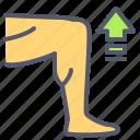 arrow, exercise, grow, leg, muscle icon