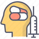meds, pills, syringe, treatment icon